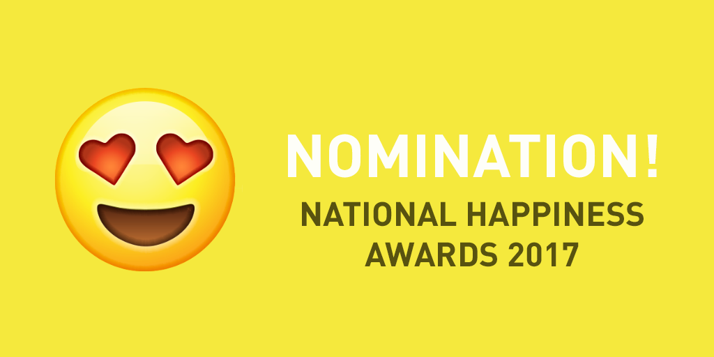 Two LACE Partners nominations for a National Happiness Award 2017